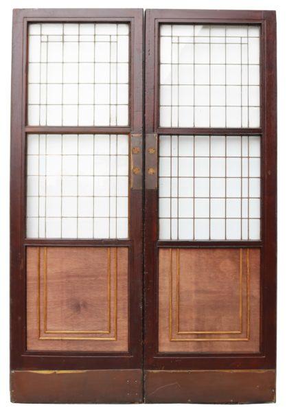 Pair of Antique Copper Light Doors