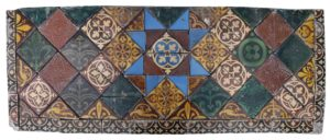 Antique Victorian Encaustic 'Maw and Company' Tile Panel