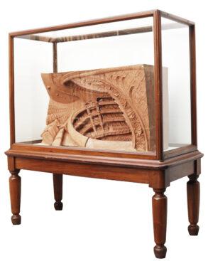 Antique Mahogany Glazed Museum Display Cabinets