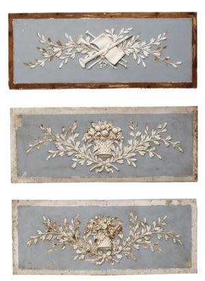 Three Regency Style Wall Plaques