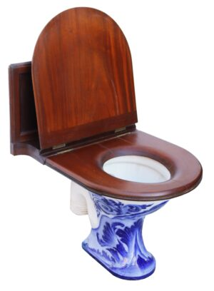 Antique Doulton and Co Glazed Toilet